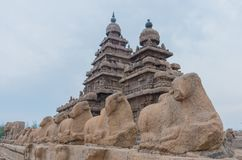 Shore temple in Mamallapuram, Tamil Nadu. India. Shore temple in Mamallapuram, Tamil Nadu, India Royalty Free Stock Photos
