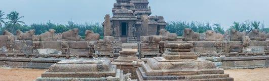 Shore temple in Mamallapuram, Tamil Nadu, India. Shore temple in Mamallapuram, Tamil Nadu. India Stock Photo
