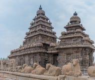 Shore temple in Mamallapuram,  India. Shore temple in Mamallapuram, Tamil Nadu, India Royalty Free Stock Photography