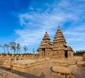 Shore temple - World  heritage site in  Mahabalipuram, Tamil Nad Stock Image