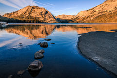 Shore of Tenaya Lake Stock Photo