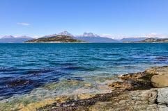 The shore, Tierra del Fuego National Park, Ushuaia, Argentina Stock Photography