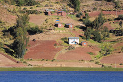 Shore of Titicaca lake. Royalty Free Stock Photography