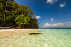 On the shore of of a tropical island. Koh Chang. Royalty Free Stock Photos