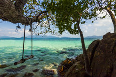 On the shore of of a tropical island. Koh Chang. Stock Images