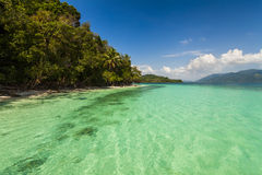 On the shore of of a tropical island. Koh Chang. Royalty Free Stock Images