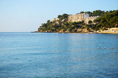The shore and turquoise water on Mallorca island. Spain Royalty Free Stock Image