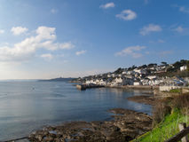 Shore and village of St. Mawes, Cornwall, United Kingdom Royalty Free Stock Photo