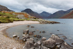 Shore of Wast Water in Cumbria, UK Royalty Free Stock Image