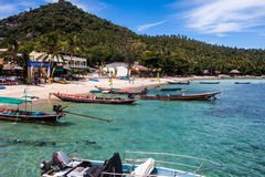 Shore With Boats At Ko Tao Royalty Free Stock Photography