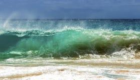 沙滩Shorebreak 免版税库存图片