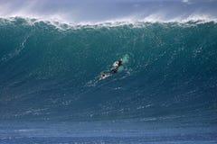 Shorebreak surf la tejita. Surf big powerful wave in tenerife stock image