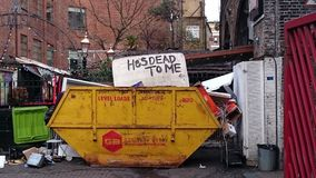 Shoreditch Art. Dumpster art Shoreditch Hackney stock images