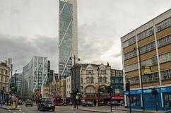 Shoreditch Hoofdstraat, Londen Stock Afbeelding