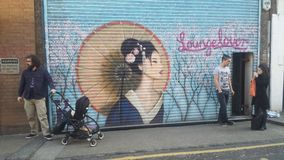 Shoreditch. Oriental Grafitti urban Royalty Free Stock Photos