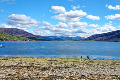 Shorefront at Ullapool in the highlands of Scotland Royalty Free Stock Photo