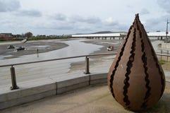 Shoreham的西萨塞克斯郡河Adur 免版税库存照片