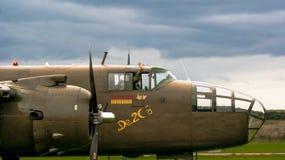 Shoreham Airshow 2014年- B25j米歇尔驾驶舱 免版税图库摄影