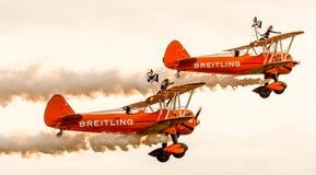 Shoreham Airshow 2014 - Breitling Wingwalkers Foto de archivo
