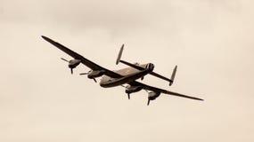 Shoreham Airshow 2014 - de Luchtparade van Lancaster Stock Afbeeldingen