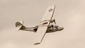 Shoreham Airshow 2014 - desfile de aviones de Sunderland Foto de archivo libre de regalías