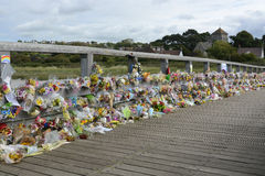 Shoreham Airshow Disaster floral tribute Royalty Free Stock Photo