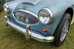 SHOREHAM-DOOR-OVERZEES, HET WESTEN SUSSEX/UK - 30 AUGUSTUS: Austin Healey 3000 Royalty-vrije Stock Afbeeldingen