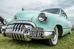 SHOREHAM-DOOR-OVERZEES, HET WESTEN SUSSEX/UK - 30 AUGUSTUS: Oud Buick Acht pa Royalty-vrije Stock Fotografie
