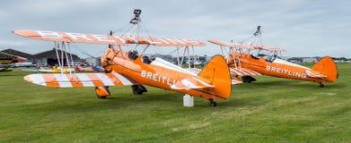 SHOREHAM-BY-SEA, SUSSEX/UK OCCIDENTAL - 30 AOÛT : Breitling Wingwalk Images libres de droits