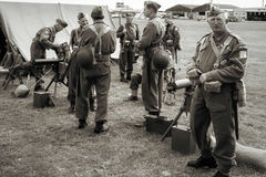 SHOREHAM-BY-SEA, WEST SUSSEX/UK - AUGUST 30 : Dad's army at Shor Stock Image