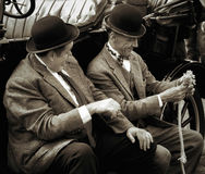 SHOREHAM-BY-SEA, WEST SUSSEX/UK - AUGUST 30 : Laurel and Hardy l Royalty Free Stock Photos