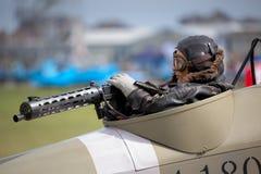 SHOREHAM-BY-SEA, WEST SUSSEX/UK - AUGUST 21 : Mannequin Rear gun Stock Images