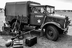 SHOREHAM-BY-SEA, WEST SUSSEX/UK - AUGUST 30 : Old US Army Truck Royalty Free Stock Images
