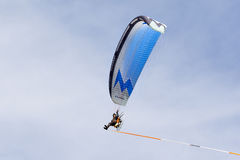 SHOREHAM-BY-SEA, WEST SUSSEX/UK - AUGUST 30 : Powered hang glide Stock Photo