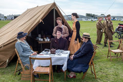 SHOREHAM-BY-SEA, WEST SUSSEX/UK - AUGUST 30 : Wartime re-enactme Royalty Free Stock Photography