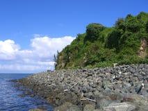 Shoreline. Rocky Shoreline, Old San Juan, Puerto Rico stock image