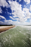 The Shoreline. Ocean shoreline in Florida, wide angle view Stock Photo