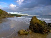 Shoreline. Coastline at White Bay, Co. Cork, Ireland Royalty Free Stock Photography