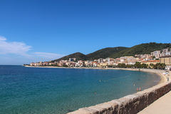 Shoreline in Ajaccio. Corse, France. royalty free stock photography