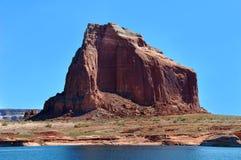 Shoreline arido del lago Powell Immagine Stock Libera da Diritti