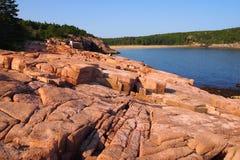 Shoreline au parc national d'Acadia Photo stock