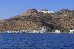 Shoreline av Milos Island Greece Fotografering för Bildbyråer