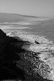 Shoreline bathing. Shoreline view of the beaches near Sintra, Portugal Royalty Free Stock Photos