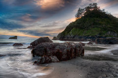 Shoreline Beach Scene from Northern California Stock Photography