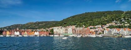 Shoreline Bryggen, Bergen, Norvège Photographie stock libre de droits