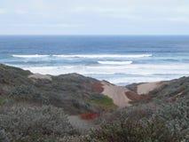 Shoreline. California shoreline waves and dunes Royalty Free Stock Photo