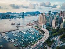 Shoreline of Causeway Bay. Hong Kong royalty free stock photos
