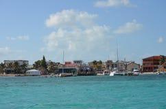 Shoreline. Of Caye Caulker, Belize Royalty Free Stock Photography