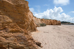 Shoreline Cliffs, Loscolo Beach, Penestin, France Royalty Free Stock Image