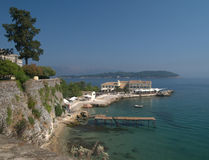 Shoreline, Corfu Town Stock Images